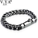 V.YA New Arrival 925 Sterling <b>Silver</b> Male <b>Bracelet</b> Thai <b>Silver</b> Dragon scale <b>Bracelets</b> Bangles For Men Birthday Fine Jewelry