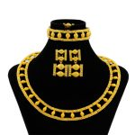 High Quality Fashion African <b>Jewelry</b> Nigeria Gold Jewellry Italian Women Trapeze 24 Gold <b>Necklace</b> Earrings Wedding <b>Jewelry</b> Sets