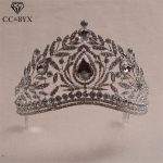 CC Tiaras And Crowns Hairbands Big Crown Hollow Engagement <b>Wedding</b> Hair Accessories For Bride Luxury <b>Jewelry</b> Shine Stone HG461