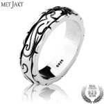 MetJakt <b>Handmade</b> Cloud Ring Solid 925 Sterling Silver Ring for Men and Women's Party Wedding <b>Jewelry</b>