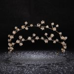 Gold Rhinestone Star Bridal Hairbands Wedding Hair Accessories <b>Handmade</b> Crystal Headband Women Party <b>Jewelry</b> Girl's Headpiece