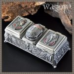 <b>Fashion</b> European Style Metal <b>Jewelry</b> Case Zinc-aloy Trinket box Christmas Gift Packing Necklace Package wedding decoration Z025