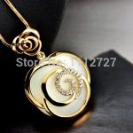 Beautiful Opal Crystal Necklace Long Rose <b>Jewelry</b> Trends Sweater Chain Female Chain Dress Ornament <b>Accessories</b> Wholesale