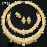 CWEEL <b>Jewelry</b> Sets Women African Beads Turkish Wedding Ethiopian Costume Bridal Nigerian Beads Choker Necklace <b>Jewelry</b> Set