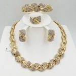 HOT Fashion <b>wedding</b> Dubai Africa Nigeria African <b>Jewelry</b> set gold-color necklace Earrings romantic woman Bridal <b>Jewelry</b> Sets