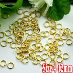 250G/PIECE Wholesale Gold Plated COPPER Based 4/5/6/8/10/12mm Opening Split Jump Findings Split Rings for <b>Jewelry</b> <b>Making</b>