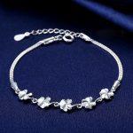 Jemmin Women Flower <b>Bracelets</b> Genuine 925 Sterling <b>Silver</b> Fine Jewelry Bangle <b>Bracelets</b> For Girls Birthday Best Gift