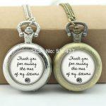 WholesaleWedding Day Pocket Watch Mother Of The Groom or Bride <b>Jewelry</b> Glass Locket Necklace <b>Antique</b> Pocket Watch Necklace