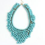 Unique Semi-precious Stone Pendant Choker Necklace Chunky Synthetic Stone <b>Handmade</b> Tassel Choker Collar India Women <b>Jewelry</b>