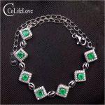 Trendy <b>silver</b> emerald bracelet for woman 7 pcs 3 mm real natural emerald <b>silver</b> bracelet solid 925 <b>silver</b> emerald <b>jewelry</b>