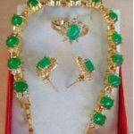 Natural Prett Lovely Women's Wedding shipping>><b>Jewelry</b> Green gem Crystal Bracelet Earring Ring Sets silver-<b>jewelry</b> wedding