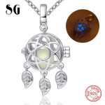 2018 new 925 sterling silver romantic dreamcatcher glowing chain pendant&necklace diy fashion <b>jewelry</b> <b>making</b> for women gifts