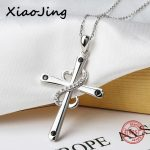 New arrivals 100% 925 sterling silver diy design cross pendant chain necklace with CZ stone fashion <b>jewelry</b> <b>making</b> women gifts
