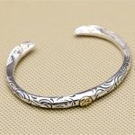 <b>Silver</b> 925 Twin-eagle Narrow Band Cuff Bangle Men Women 100% <b>Sterling</b> <b>Silver</b> 925 Thai <b>Silver</b> <b>Jewelry</b> Top Quality Free Gift Box