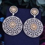 GODKI 63mm Luxury Trendy Spider Web 2 Colors Mixed Cubic Zirconia Naija <b>Wedding</b> Party Earring Fashion <b>Jewelry</b> for Women