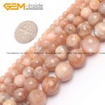 "Gem-inside 4-12m Natural Stone Beads Round Faceted Sun Stone Beads For <b>Jewelry</b> <b>Making</b> Beads Necklace 15"" Sunstone DIY Beads"