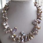 Unusual Purple Brown Keishi Keshi Petal Pearl Necklace <b>earring</b> gift