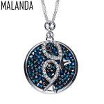 MALANDA Brand 2017 Fashion Original Crystals From SWAROVSKI Maxi Round Necklaces Pendants For Women Party <b>Wedding</b> <b>Jewelry</b> Gift