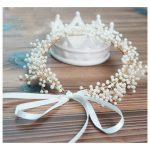 <b>Handmade</b> Pearl/Crystal Wedding Headband Bridal <b>Jewelry</b> Floral Hair Accessories Vintage Women Headbands Tiara