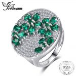 JewelryPalace Flower 2.6ct Created Emerald Ring 100% Real 925 <b>Sterling</b> <b>Silver</b> <b>Jewelry</b> 2018 Fashion Big Party Rings For Women