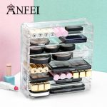 ANFEI <b>Fashion</b> Clear 8 Layer Cosmetic Display Lipstick Holder Eye Shadow Showcase Makeup Organizer Household Decoration Display