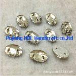 Oval Crystal Clear Sew on Rhinestones Flatback Sewing Fancy Stone <b>Jewelry</b> <b>Making</b> 2holes