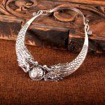 Yunnan Tribe <b>Handmade</b> Miao Silver Two Dragons and Silver Bead Collar Big Pendant Necklace Retro Silver <b>Jewelry</b>