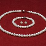 Prett Lovely Women's Wedding RD588 S7D shipping>>s164 a Sets AAA 8-9mm white round freshwater pearl necklace bracelet earri