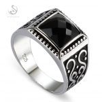 Eulonvan Big Engagement Wedding black 925 Sterling Silver rings For men Anel <b>Jewelry</b> Accesories S-3809 size 7 8 9 10 11 12 13 14