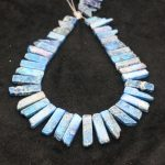 High Quality Blue Gems Stone Necklace Point Pendant Beads, Top Drilled Women Fashion <b>Jewelry</b> Spike DIY <b>Making</b> Finding Gems