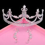 Bride Diaries Luxury Rhinestone Tiaras & Clip Earrings Set Wedding <b>Jewelry</b> Sets Crown Hair <b>Accessories</b>