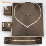 Leaves Shape 4pcs <b>Jewelry</b> Sets With AAA Cubic Zirconia Dinner Party Gorgeous Woman <b>Jewelry</b> Color Plated Guaranteed Hadiyan CN206