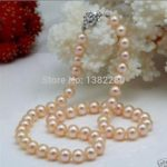 Discounts!8-9mm Pink pearl necklace 18inch DIY handmade women fashion <b>jewelry</b> <b>making</b> design gfit wholesale and retail
