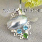 Gray Mabe Sea Shell Sterling Silver Pendant Clasp Craft <b>Jewelry</b> <b>Making</b>