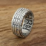 Factory wholesale sterling silver <b>jewelry</b> <b>handmade</b> silver S925 retro Ring Mens personality Taiji ring