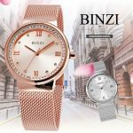 BINZI Luxury Watch Women Watches Clock Rhinestones Diamond Watch Milan Strap Rose Gold <b>Silver</b> 2018 New Fashion relogio feminino