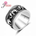 JEXXI Pop Elephant Round Ring for Woman Birthday Gift Cubic Zirconia Party Anniversary <b>Jewelry</b> 925 Sterling Silver