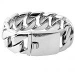 26/31MM 316L Stainless Steel Curb Cuban <b>Bracelet</b> Huge Heavy <b>Silver</b> Tone Chain Wholesale Jewelry Mens Boys Bracele