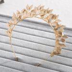 Vintage Handmade Gold Leaf Hairband For Women tiara Wedding Headdress Hair Accessories Bridal Forehead Hair <b>Jewelry</b> headpiece