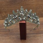 Vintage <b>Handmade</b> Beads Queen Bridal Tiaras and Crowns For Women Diadem Hair Ornaments Wedding Bride Hair <b>Jewelry</b> Accessories