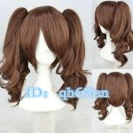 Free shipping New High Quality <b>Fashion</b> Picture Indian Mongolian wig>>> Pop Lolita Medium Long Brown Two Ponytail Cosplay Wigs