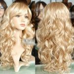 100% Brand New High Quality <b>Fashion</b> Picture full lace wigs>>New Lady Sexy Long wavy curly Blonde Party Hair Wig