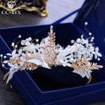 CC Hairbands Crown Tiara Forest Style Engagement <b>Wedding</b> Hair Accessories For Bridal Fairy <b>Jewelry</b> Feather Flower Leaf DIY XY110