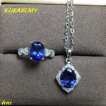 KJJEAXCMY Fine <b>jewelry</b>, 925 <b>sterling</b> <b>silver</b> Natural Tanzanite Topaz Ring in Pendant Women's Set
