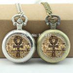 WholesaleEgyptian Ankh Pocket Watch Eternal Life Symbol <b>Jewelry</b> Locket necklace <b>Antique</b> Pocket Watch Necklace