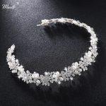 Miallo Luxury Clear Crystal Bridal Hair Vine Pearls Wedding Hair <b>Jewelry</b> Accessories Headpiece Women Crowns Pageant HS-J4506