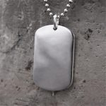 25*40MM Dog Tag 999 Sterling <b>Silver</b> <b>Necklace</b> Pendant Military Soldiers Metal Stamping Blanks Tags Wholesale 20g