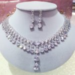 2016 Newest Luxury Brilliant Cubic Zircon Earrings <b>Necklace</b> Party <b>Jewelry</b> Sets Wedding for Women Free Shipping N-230