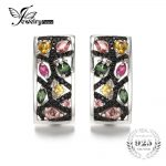 JewelryPalace Halloween 2.1ct Multicolor Genuine Tourmaline Black Spinel <b>Earrings</b> 925 Sterling <b>Silver</b> Gifts For Her Anniversary