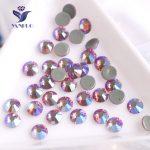 YANRUO #2058HF All Sizes Rose AB High Quality Flatback Hotfix Crystal Strass Hot Fix Glass Rhinestone For <b>Jewelry</b> <b>Making</b>